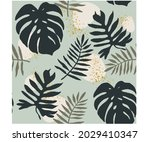 collage contemporary floral...   Shutterstock .eps vector #2029410347