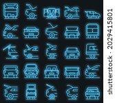 trunk car icons set. outline... | Shutterstock .eps vector #2029415801