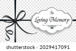 obituary with the text in...   Shutterstock .eps vector #2029417091