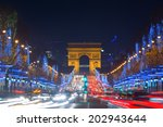 avenue des champs elysees with... | Shutterstock . vector #202943644