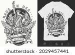 new york slogan. t shirt design.... | Shutterstock .eps vector #2029457441