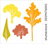 set of autumn trees. colorful... | Shutterstock .eps vector #2029476041