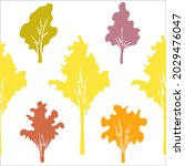 seamless pattern with autumn... | Shutterstock .eps vector #2029476047