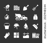 set icons of cement and... | Shutterstock .eps vector #202948144
