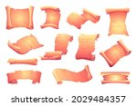 scroll parchment. old ancient...   Shutterstock .eps vector #2029484357
