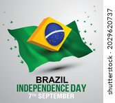 happy independence day brazil... | Shutterstock .eps vector #2029620737