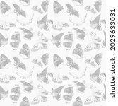 flying butterflies. seamless...   Shutterstock . vector #2029633031