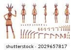 roe deer woman  elegant lady ... | Shutterstock .eps vector #2029657817