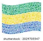 mosaic waving gabon flag... | Shutterstock .eps vector #2029705547