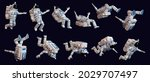 3d cartoon spaceman. astronaut...   Shutterstock . vector #2029707497