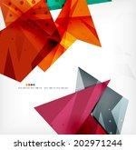 3d futuristic shapes vector... | Shutterstock .eps vector #202971244
