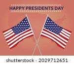 happy presidents day card....   Shutterstock .eps vector #2029712651