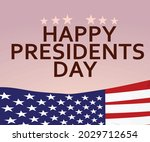 happy presidents day card....   Shutterstock .eps vector #2029712654