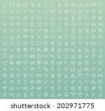 set of 225 minimal modern white ... | Shutterstock .eps vector #202971775