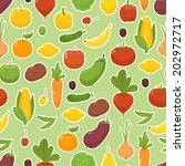 organic food   seamless... | Shutterstock .eps vector #202972717