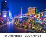 las vegas   june 15   view of...   Shutterstock . vector #202975495