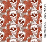 vector seamless pattern with... | Shutterstock .eps vector #202975654