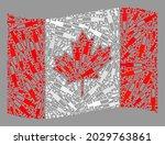 mosaic waving canada flag... | Shutterstock .eps vector #2029763861