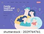 family health and wellness  ... | Shutterstock .eps vector #2029764761