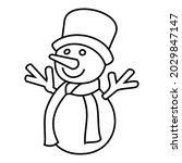 christmas ice snowman with hat...
