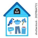 vector illustration of a blue... | Shutterstock .eps vector #2029864721