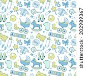 bright baby boy pattern with...