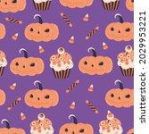 halloween pumpkin jack and ...   Shutterstock .eps vector #2029953221