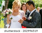 beautiful young couple in... | Shutterstock . vector #202996519