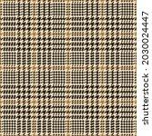 Glen Plaid Pattern In Gold...
