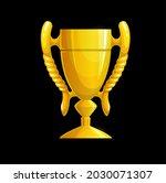 golden trophy cup icon  vector...