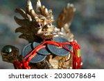 Close Up Dragon Figurine. In...