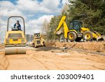 road construction works with... | Shutterstock . vector #203009401