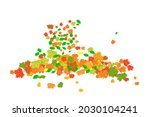 orange and red fall maple... | Shutterstock .eps vector #2030104241