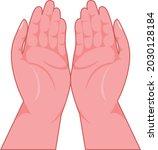 praying hands vector art and...   Shutterstock .eps vector #2030128184