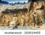 Longmen Grottoes With Buddha's...