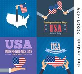 united states of america 4th of ... | Shutterstock .eps vector #203017429