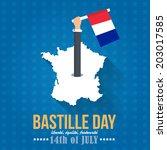 14th july bastille day of... | Shutterstock .eps vector #203017585