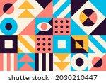 geometric bauhaus pattern....   Shutterstock .eps vector #2030210447