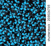 blue butterfly for background... | Shutterstock . vector #203026735