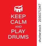 play drums vector banner...   Shutterstock .eps vector #2030271347