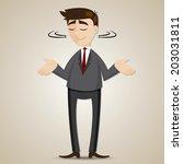 illustration of cartoon... | Shutterstock .eps vector #203031811
