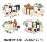 various skin care treatments ...   Shutterstock .eps vector #2030348774