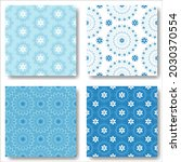 set of abstract snowflakes... | Shutterstock .eps vector #2030370554
