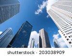 skyscrapers of shinjuku | Shutterstock . vector #203038909