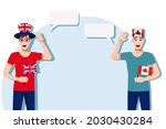 men with british and canadian... | Shutterstock .eps vector #2030430284