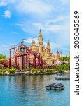 singapore   june 25  tourists... | Shutterstock . vector #203045569