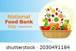 national food bank day on... | Shutterstock .eps vector #2030491184