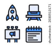 new business icons set  filled...