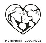 ouple kissing in the heart... | Shutterstock .eps vector #203054821