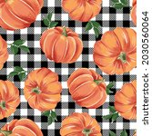autumn pumpkins with black and... | Shutterstock .eps vector #2030560064
